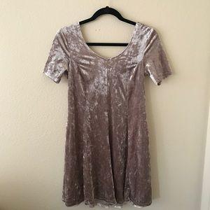Blush Crushed Velvet Mini Dress